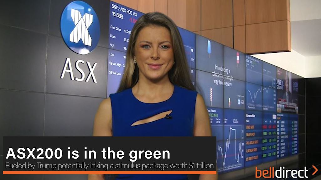ASX200 is in the green