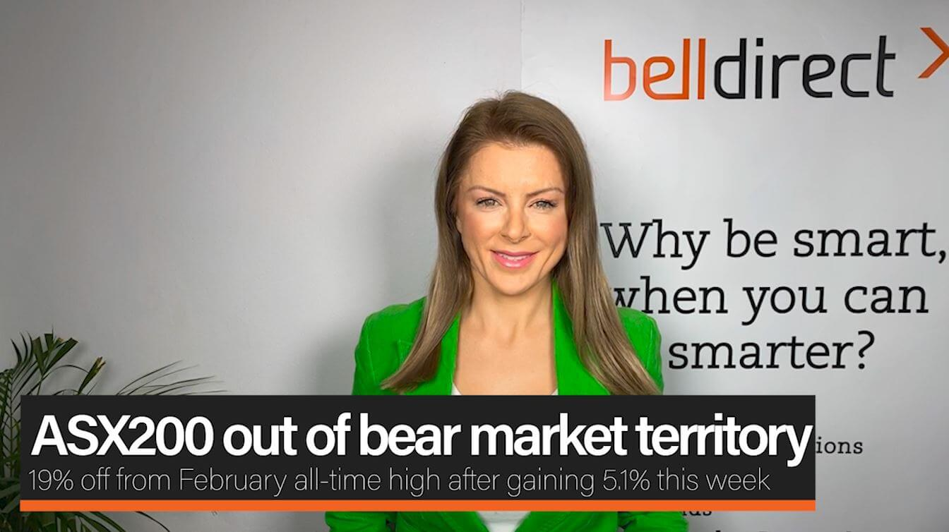 ASX200 out of bear market territory