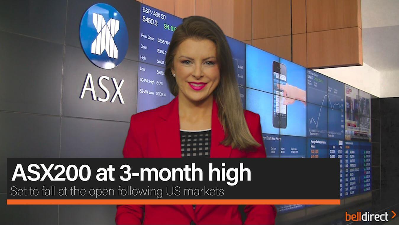 ASX200 at 3-month high