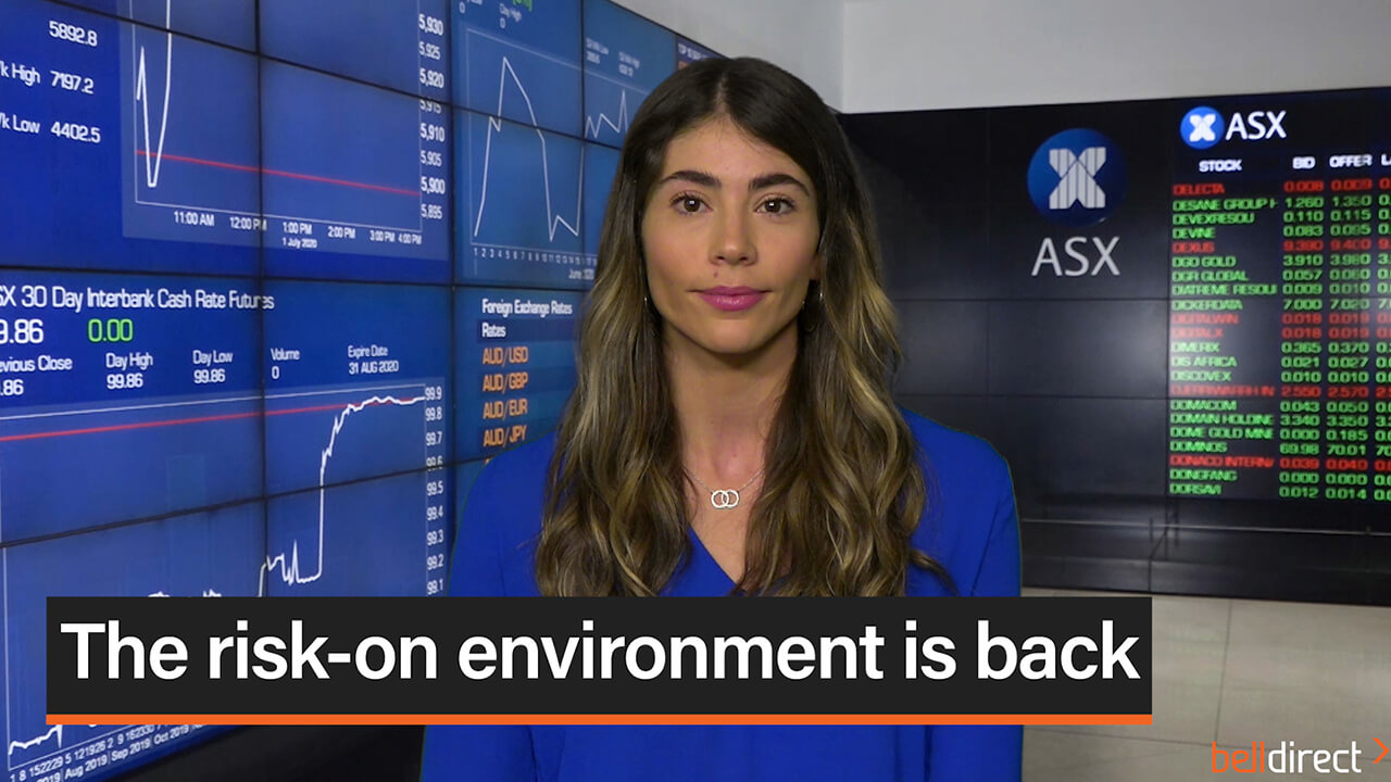 The risk-on environment is back