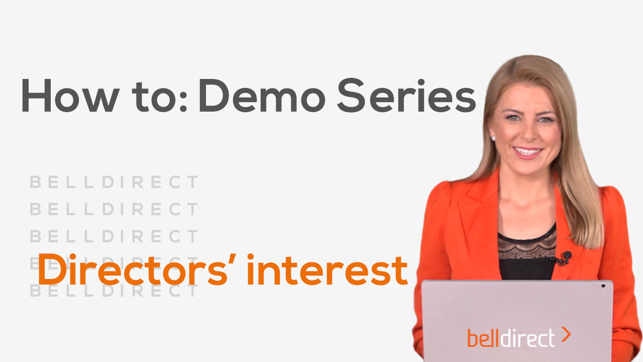 How to: Demo Series - Directors' Interest