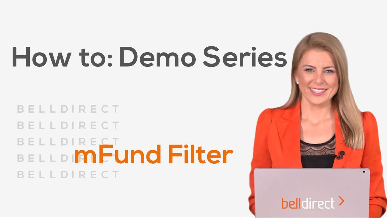 How to: Demo Series - mFund filter