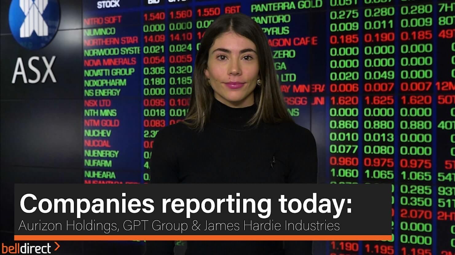 Companies reporting today