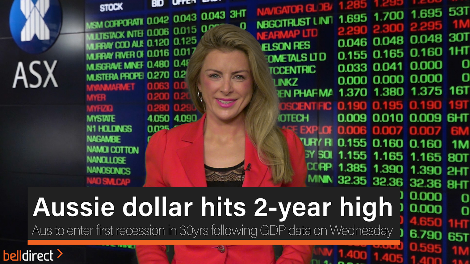 Aussie dollar hits 2-year high