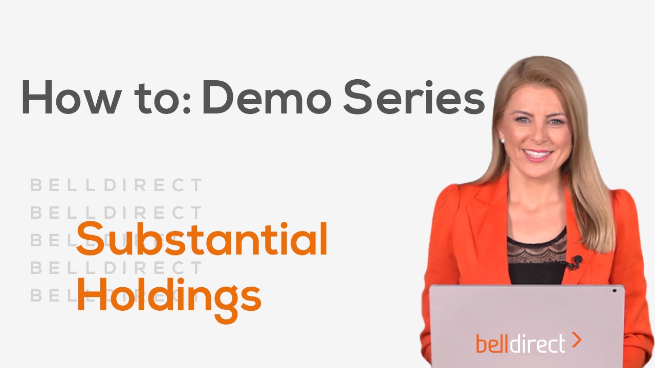 How to: Demo series - Changes in Substantial Holdings