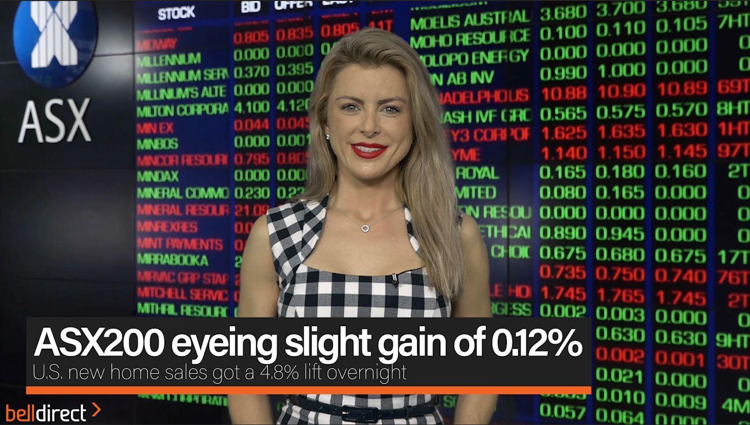 ASX200 eyeing slight gain 0.12%
