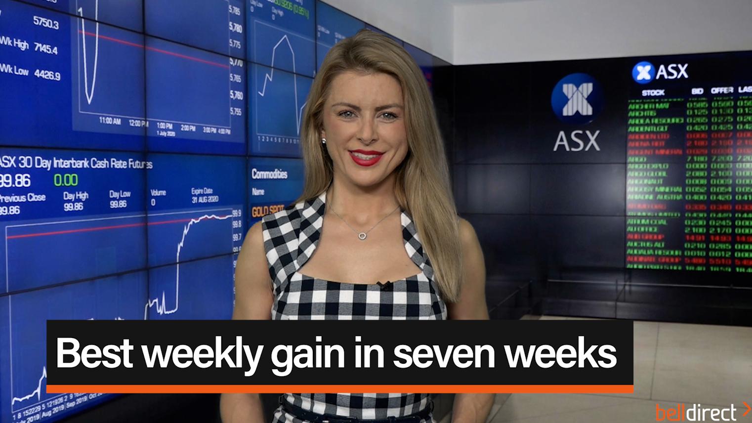 Best weekly gain in seven weeks