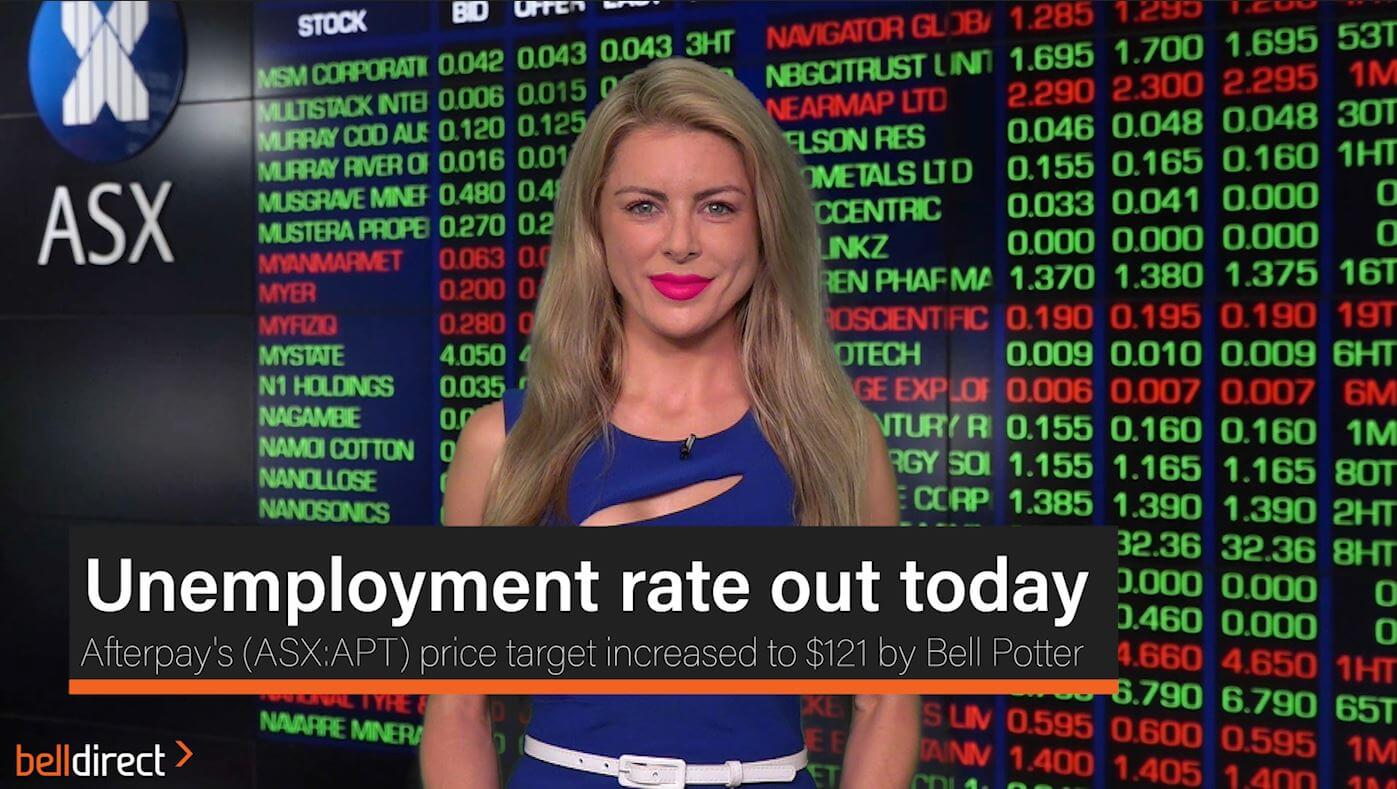 Unemployment rate out today