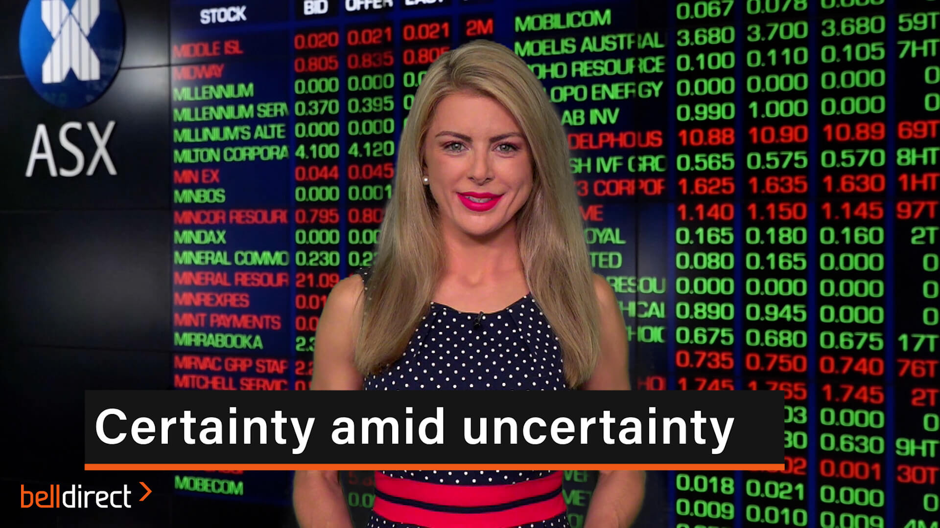 Certainty amid uncertainty