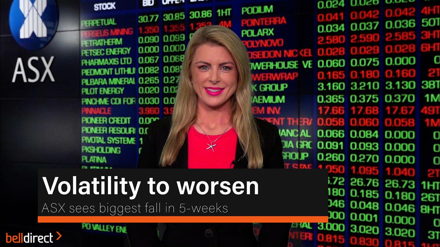 Volatility to worsen