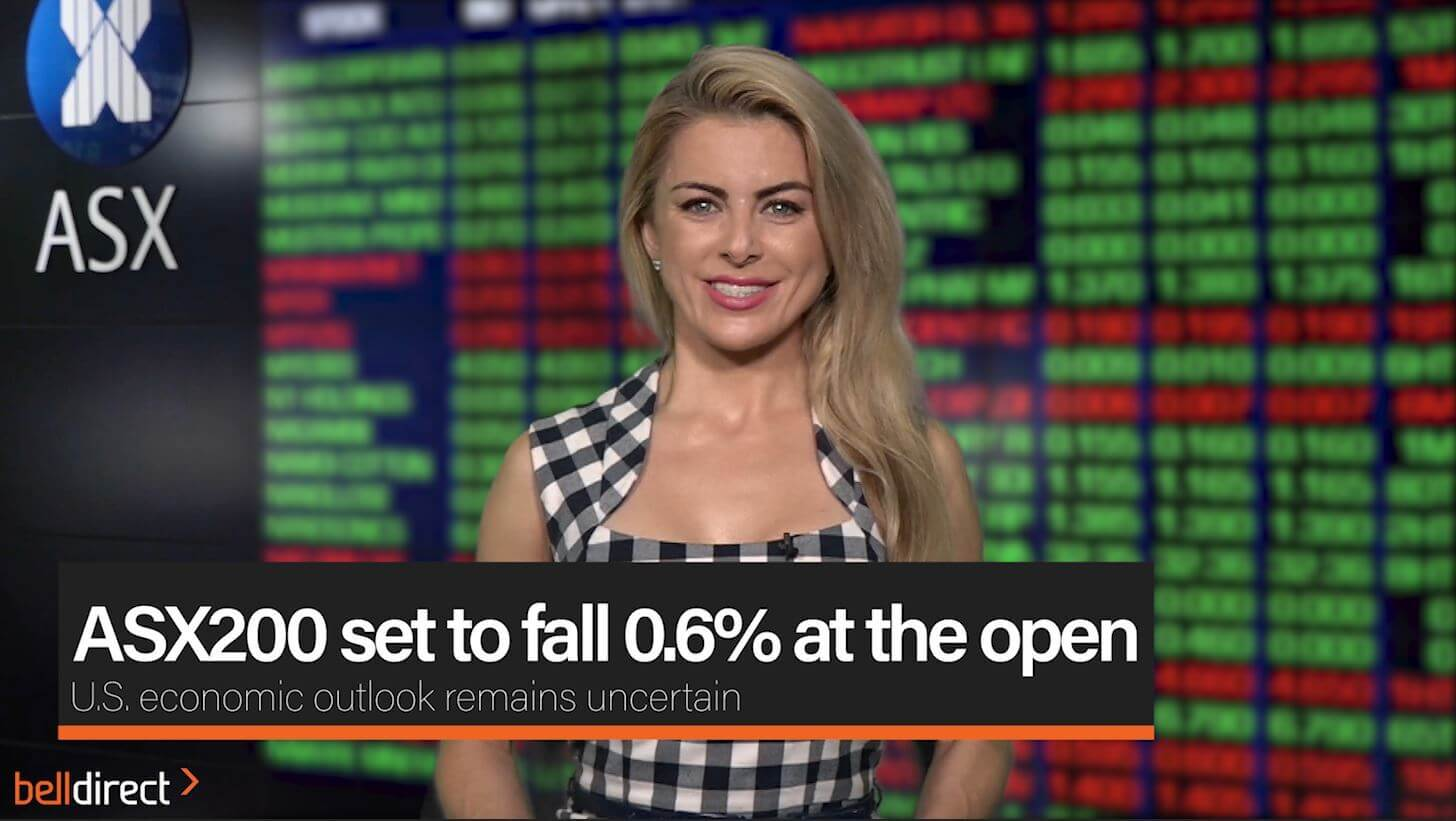 ASX200 set to fall 0.6% at the open