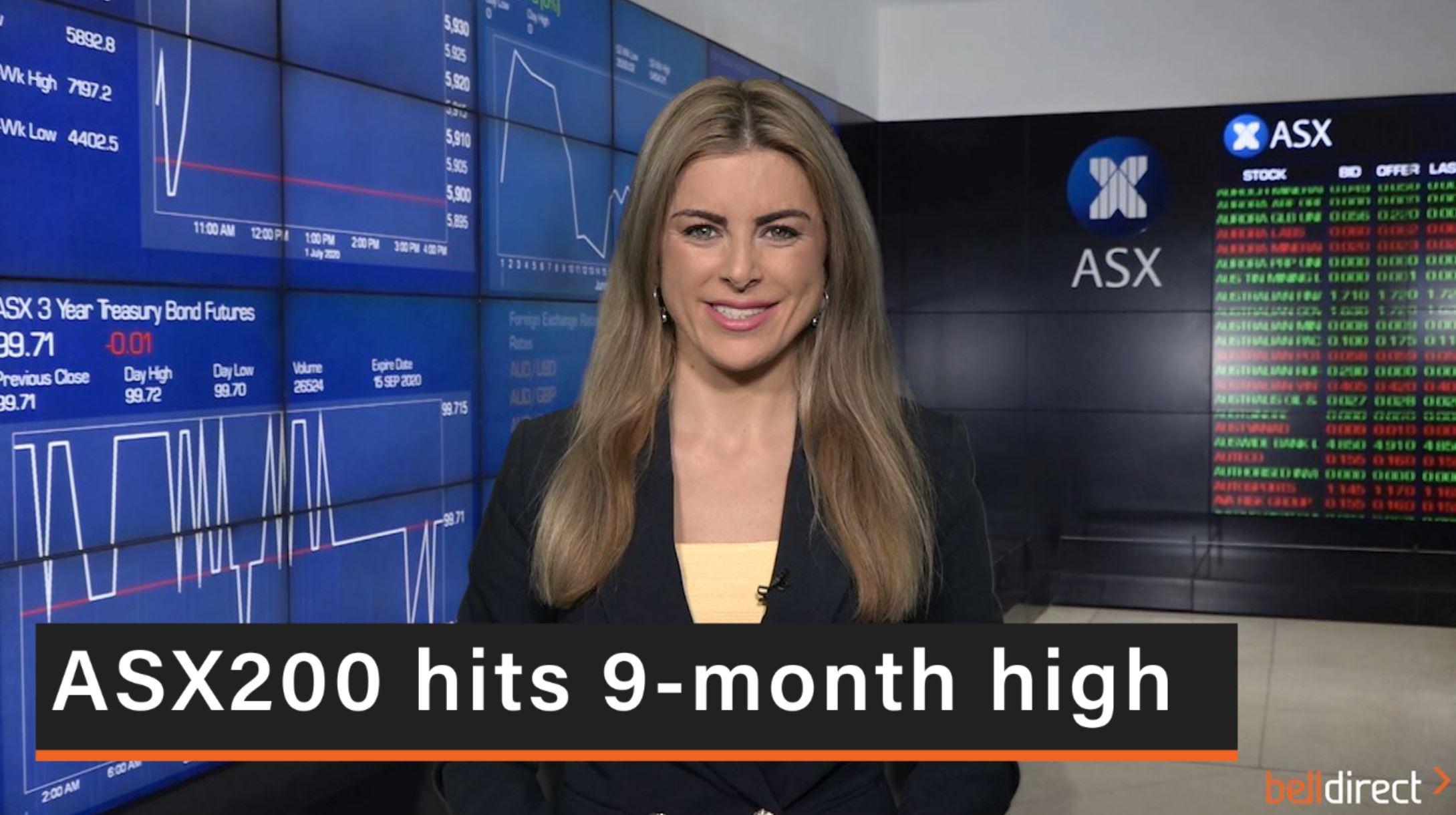 ASX200 hits a 9-month high