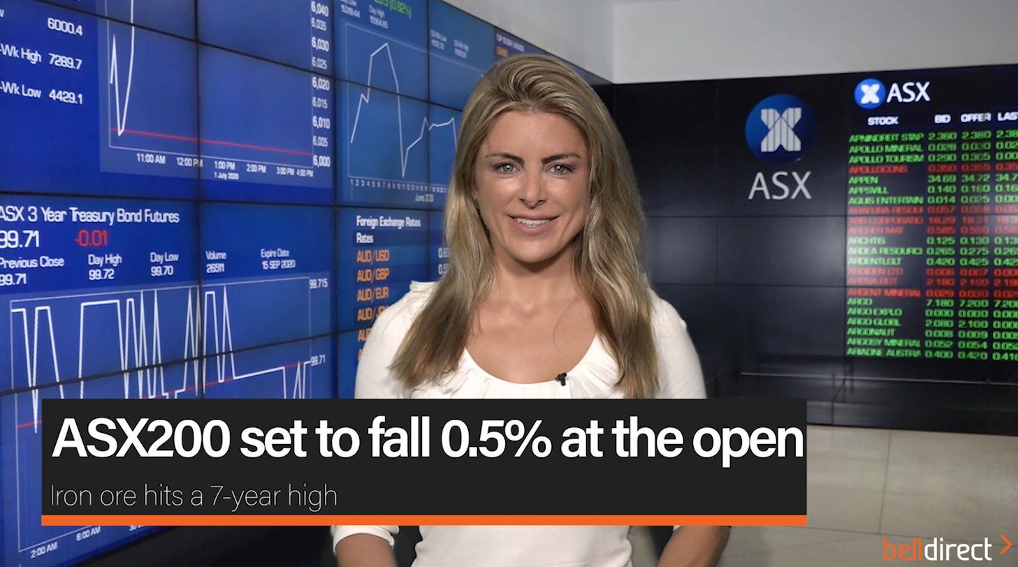 ASX200 set to pull back 0.5%