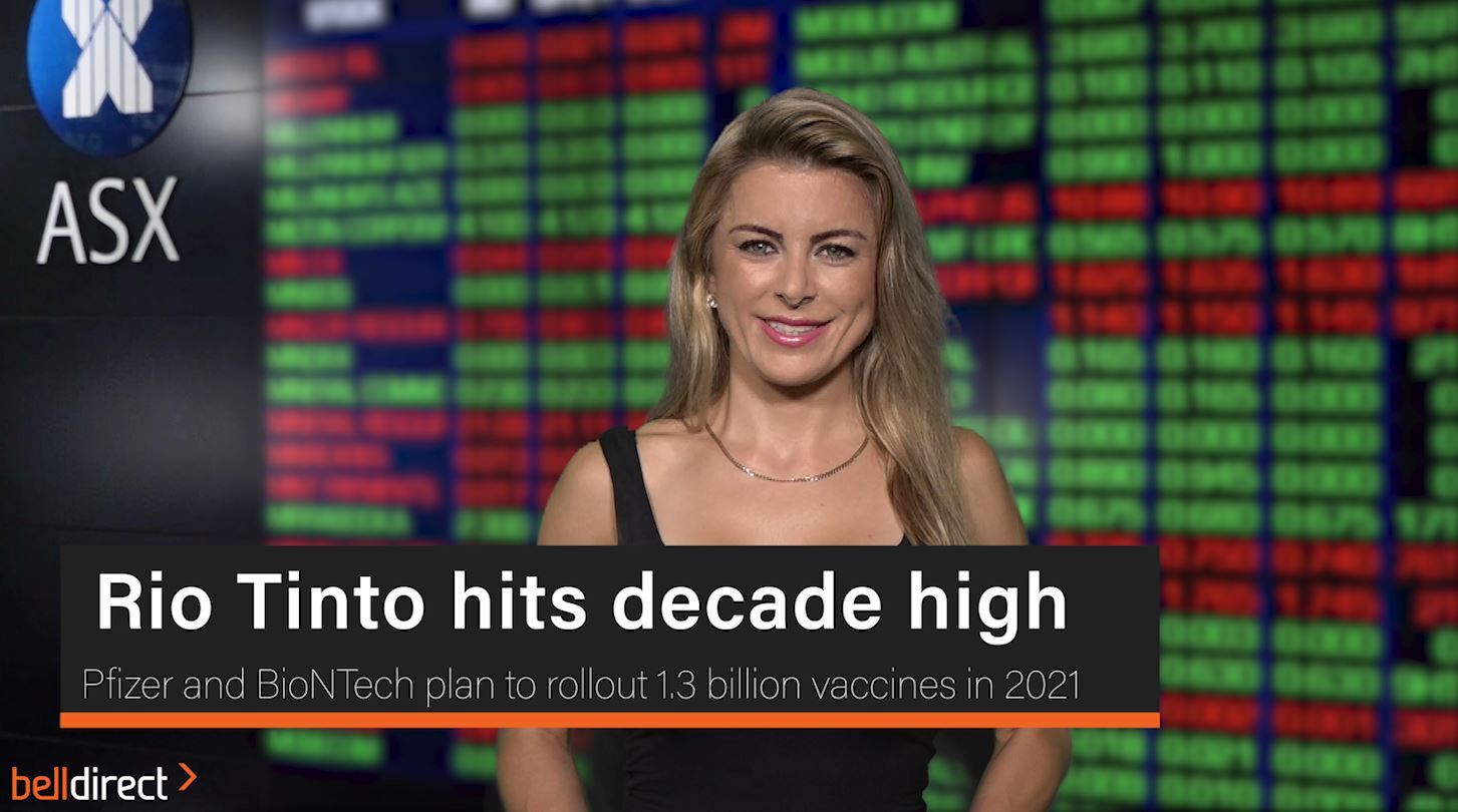 Rio Tinto hits decade high
