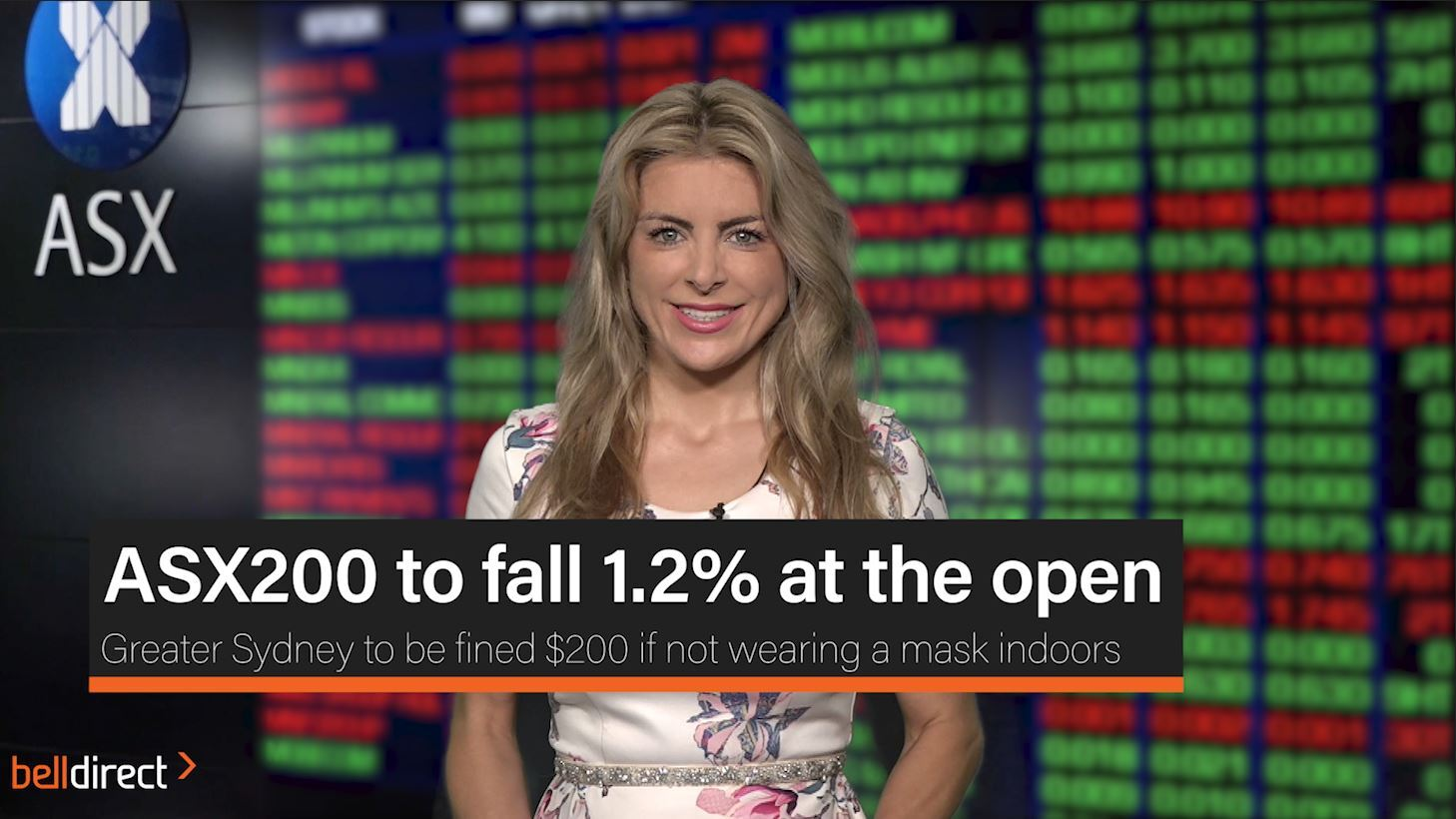 ASX200 to fall 1.2% at the open