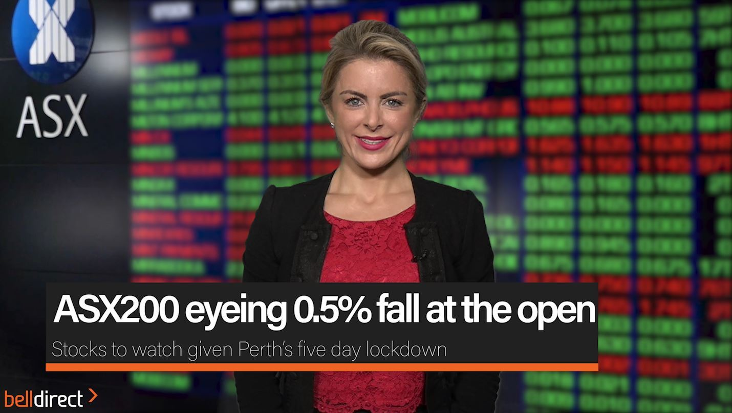 ASX200 eyeing 0.5% fall at the open