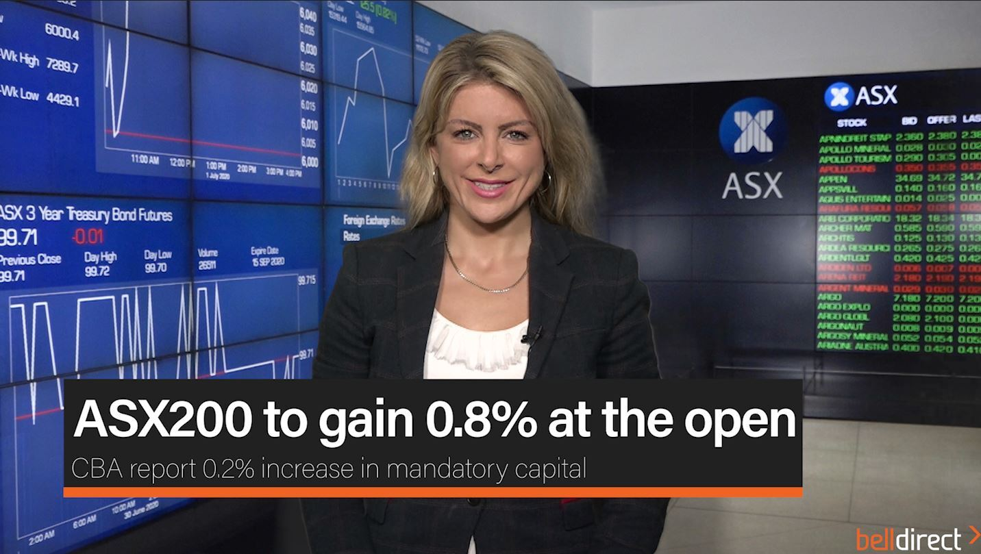 ASX200 to gain 0.8% at the open