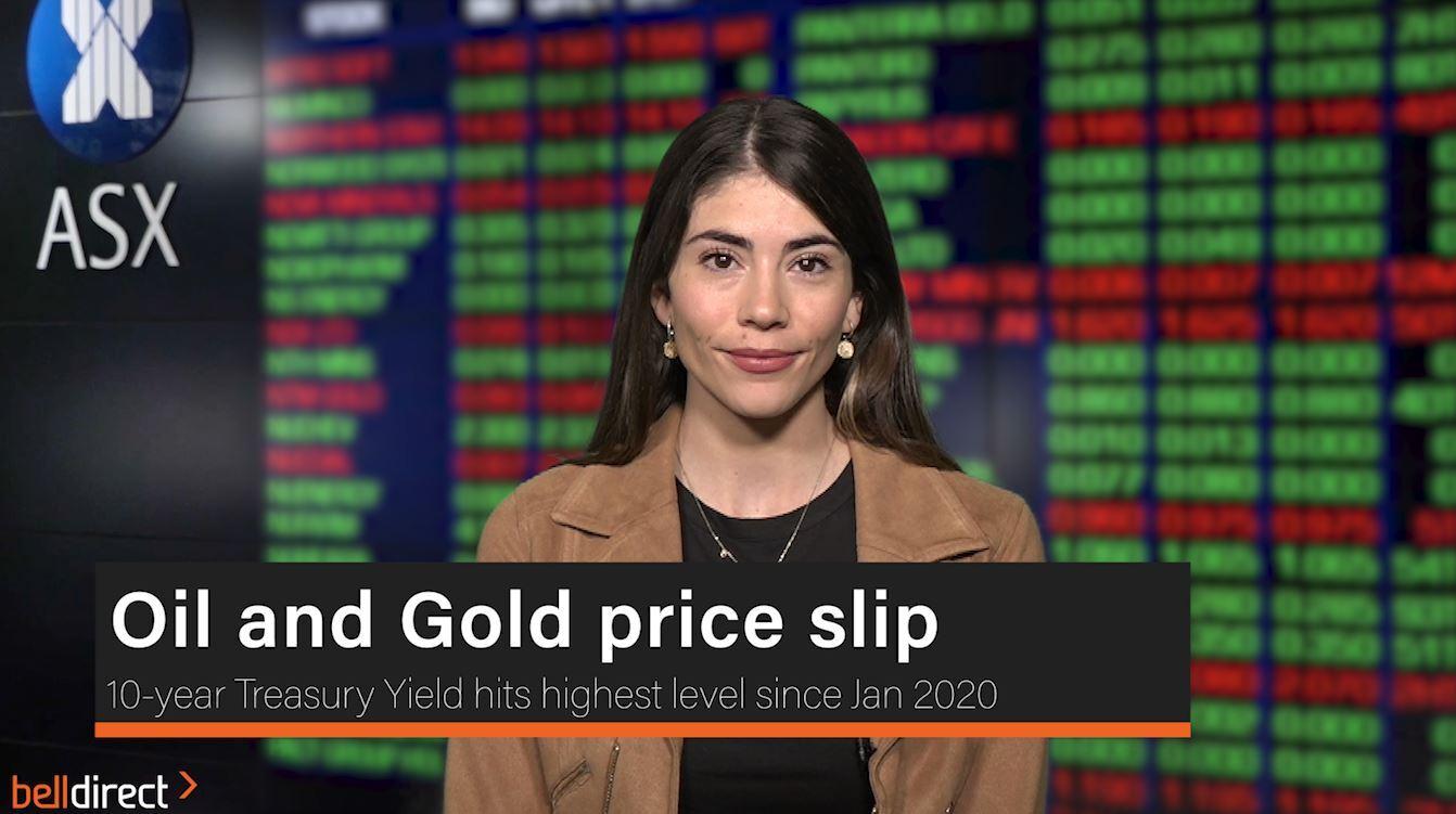 Oil and Gold price slip