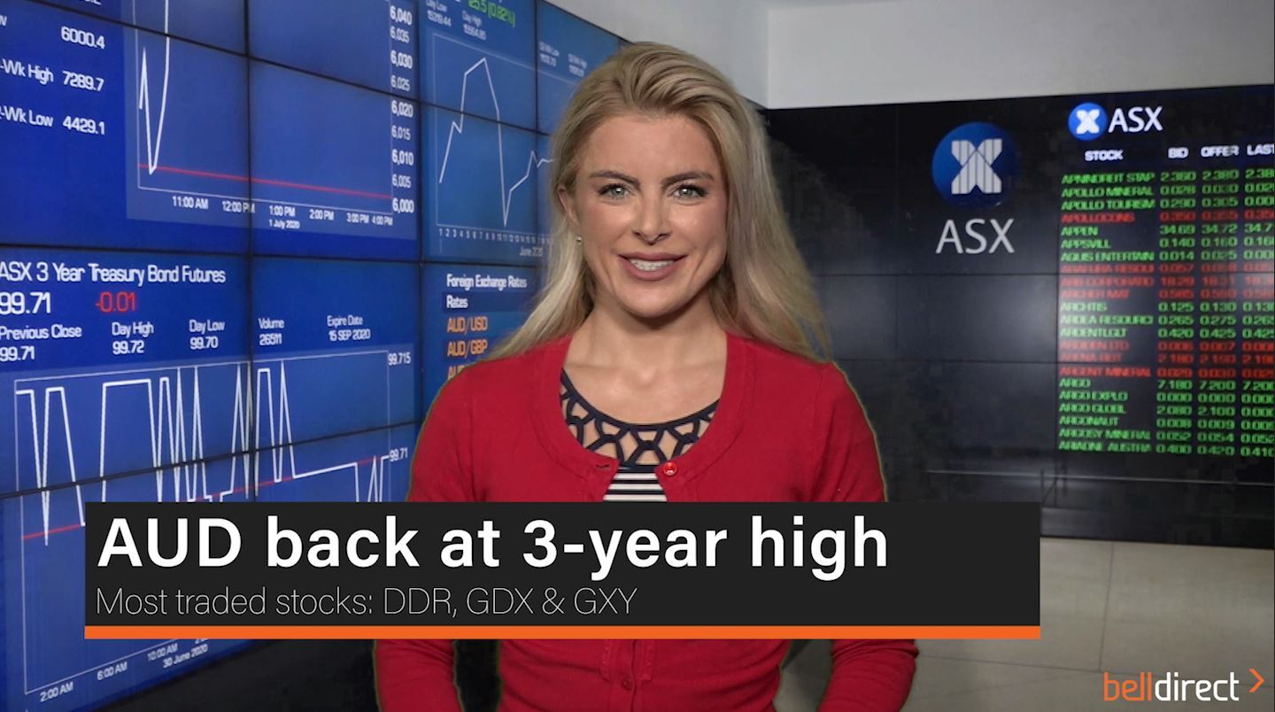 AUD back at 3-year high