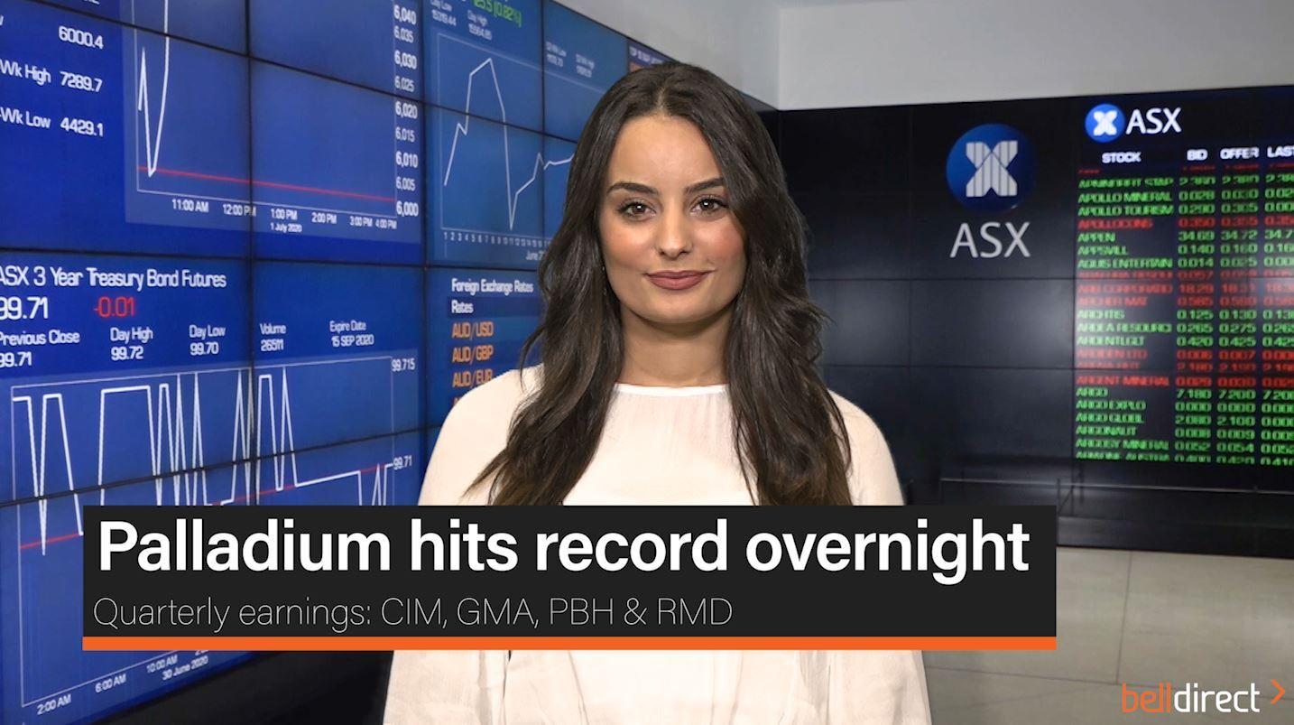 Palladium hits record overnight