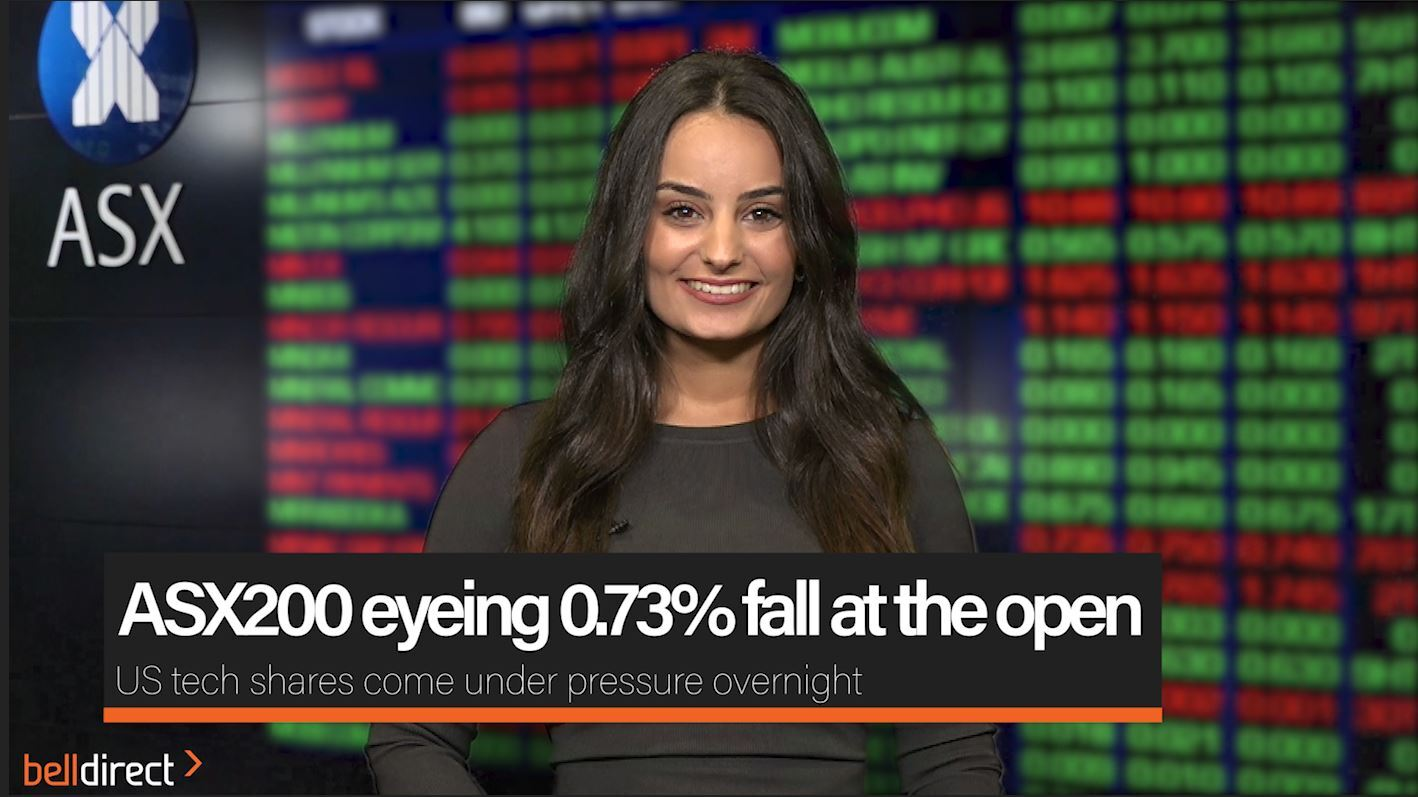 ASX200 eyeing 0.73% fall at the open
