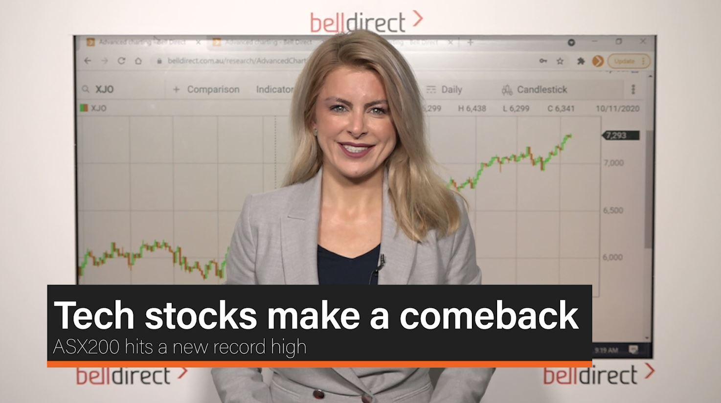 Tech stocks make a comeback