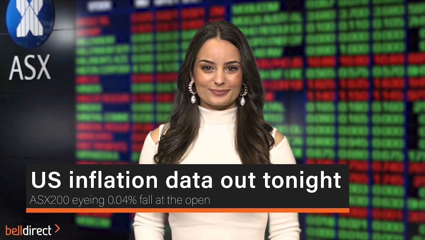 US inflation data out tonight