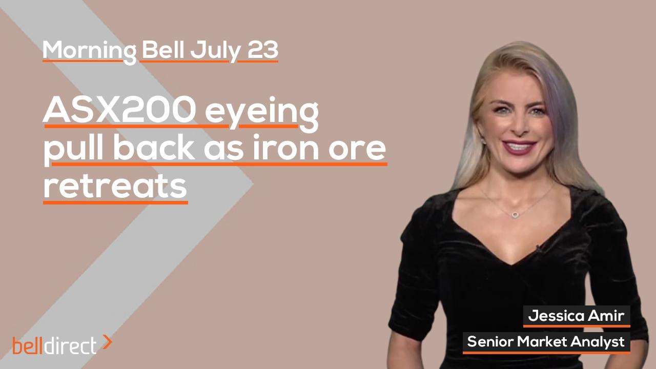 ASX200 eyeing pull back as Iron Ore retreats