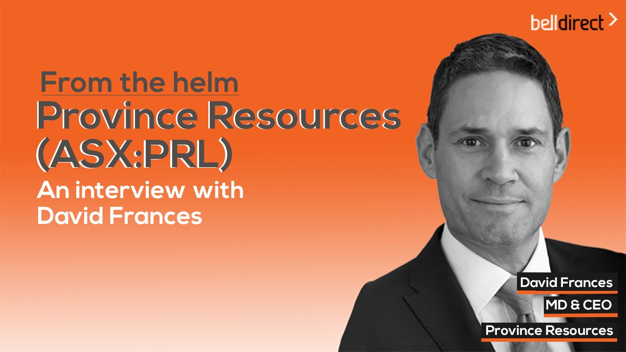 From the helm: Province Resources