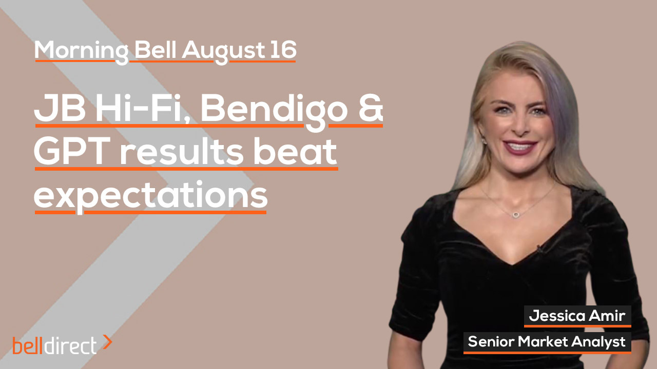 JBH, Bendigo, and GPT results beat expectations
