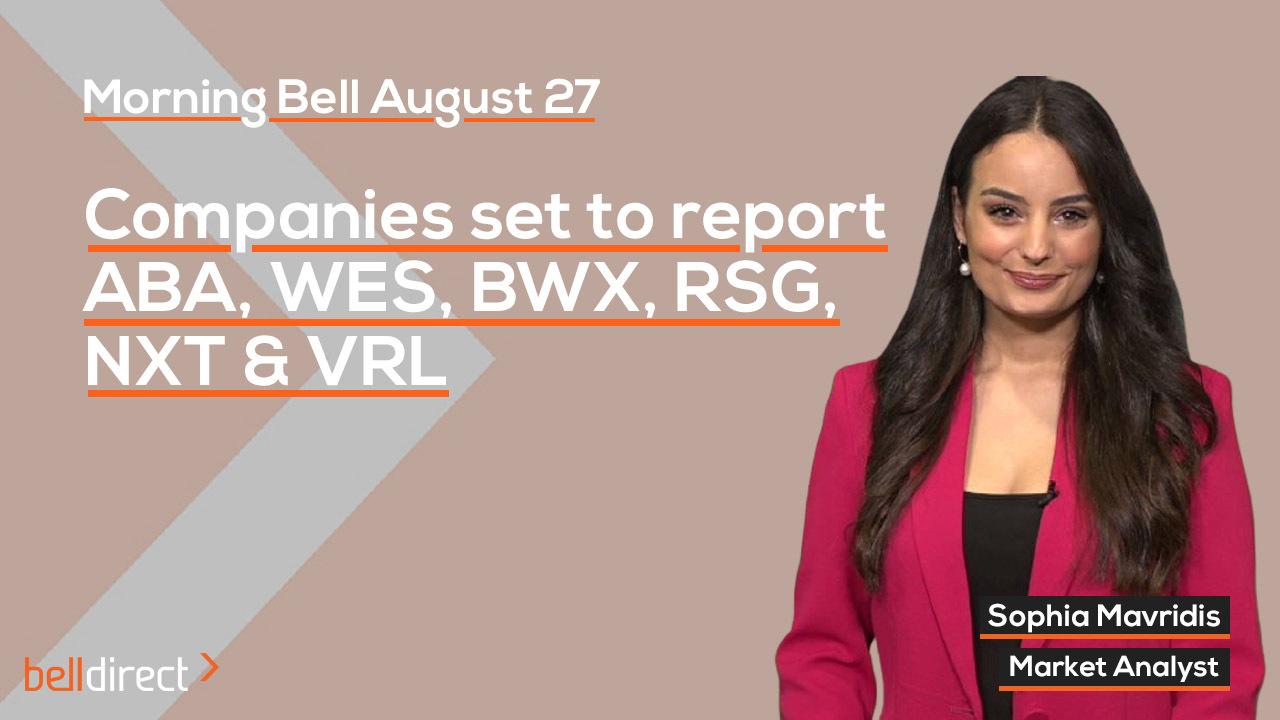 Companies set to ABA, WES, BWX, RSG, NXT & VRL