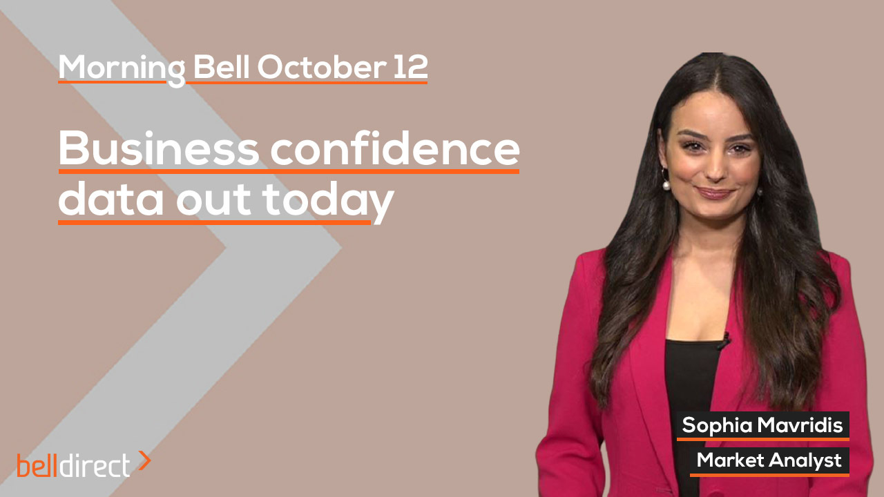Business confidence data out today